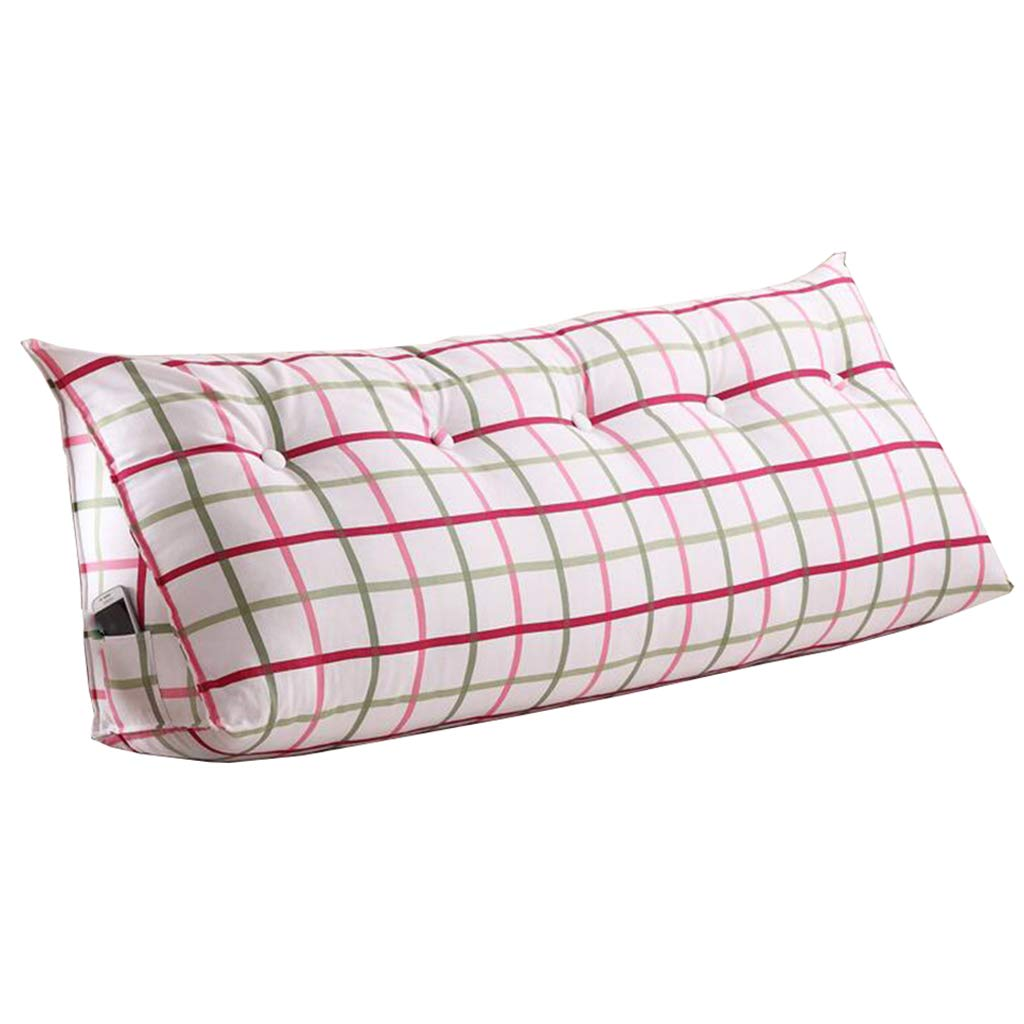 Uus Cuscino Triangolare per Uso Domestico, Cotone Active Canvas Bedroom Bed Cuscino per Testate per Finestra (sfoderabile Lavabile) Pillow (Dimensioni   80  50cm)