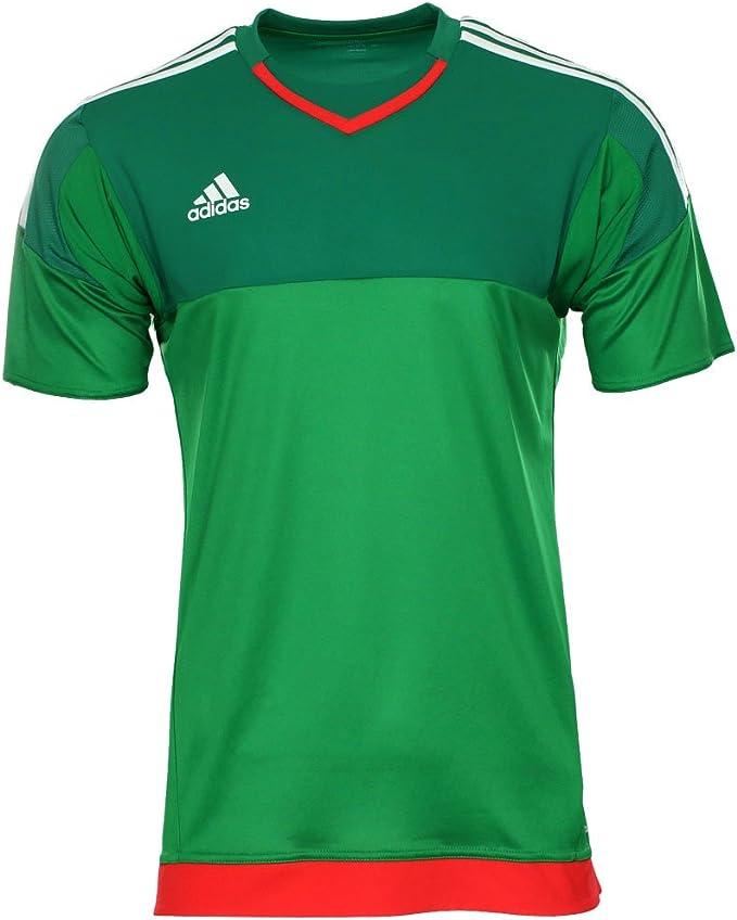Camiseta de portero de manga corta Adidas S17928, color verde, tamaño 11 / XL-XXL: Amazon.es: Deportes y aire libre