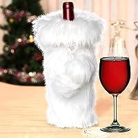 AerWo Faux Fur Christmas Table Runner, Winter Snowy White Table Runner Christmas Holiday Table Decoration …