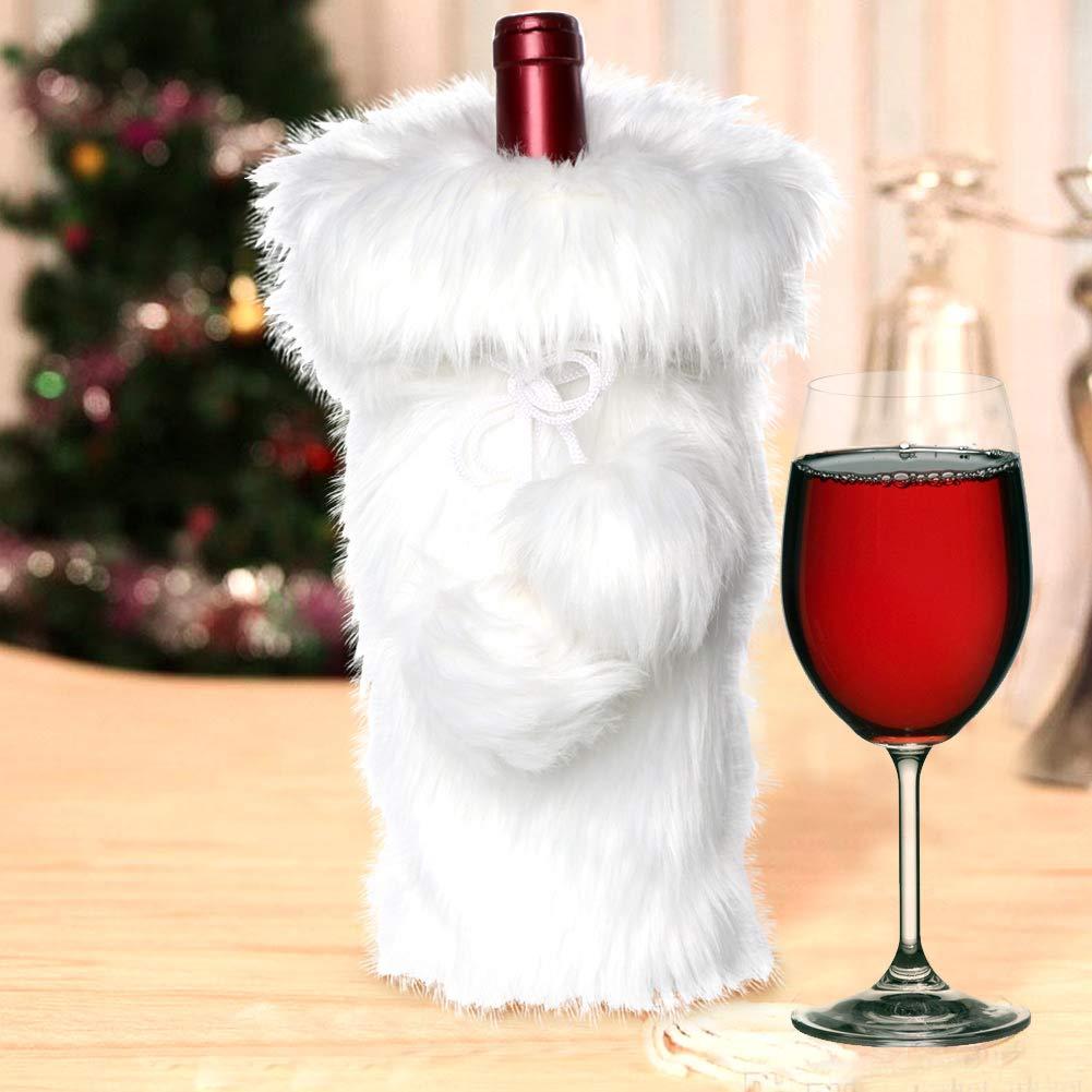 ef570485fbce Amazon.com  AerWo Faux Fur Wine Bottle Bag