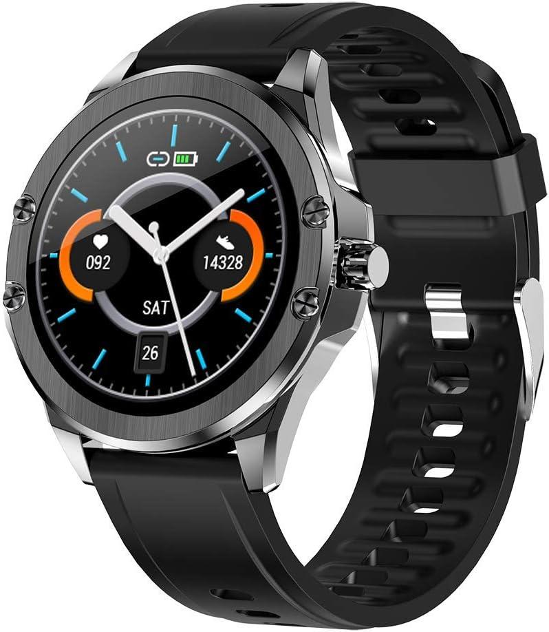 Deciduous Relojes Inteligentes Compatible con los Teléfonos Android iOS, Rastreador de Ejercicios con Pulsómetro Podómetro Que Recorre por Hombres y Mujeres 1.3