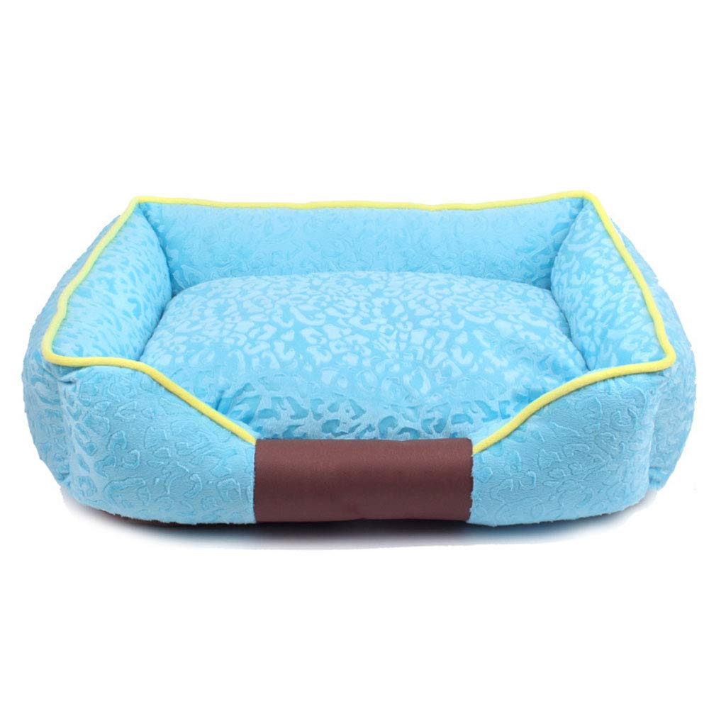bluee S 4736cm bluee S 4736cm C_-1X Kennel, Washable, Pet Litter, Small Dog, Dog Mattress, Cat Litter, Pet House, Pet Supplies, Thickening, Winter, Cattery,(bluee, Pink) (color   bluee, Size   S 47  36cm)