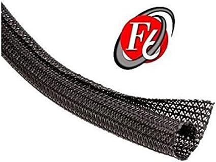 1//2 Split F6 Braided Cable Sleeving Wrap Techflex 5FT Split Loom