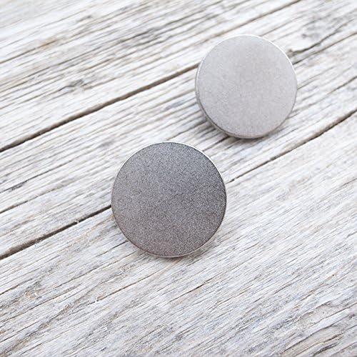 【フラット足付き】メタルシンプルボタン #C601 1穴 23mm C/#HN シルバー 2個セット