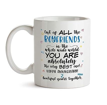 Amazoncom 2nd Wedding Anniversary Gift Mug Bb63 Happy Dating