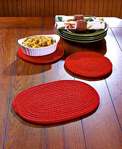 Set of 3 Fabric Trivets (Black) GetSet2Save
