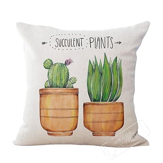 maplehouse Custom plantas suculentas patrón cactus fundas de ...