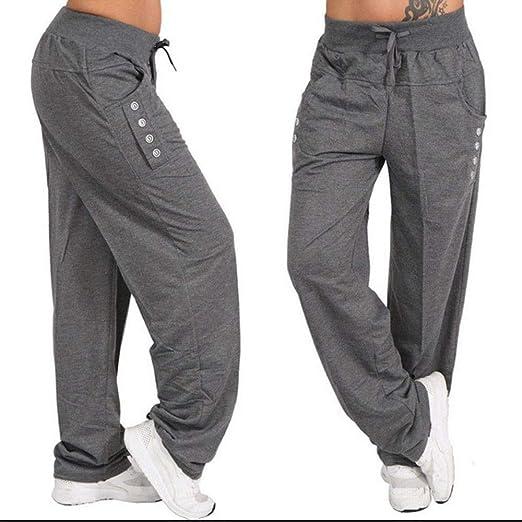 9b6063376a7 Fanteecy Women Yoga Pants Low-Rise Wide Leg Bottoms Comfy Drawstring Loose  Straight Lounge Pants