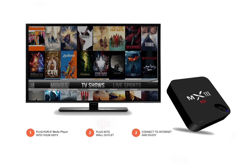 Kukele MXIII 2G/32G Internet Streaming Media Player Android 6.0 Marshmallow TV Box Media Player by KUKELE (Image #2)