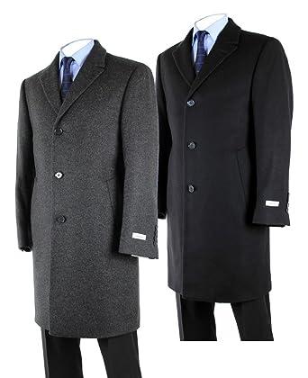 76f05e332d9 Hathaway Platinum Wool   Cashmere Italian Top Coat for Men at Amazon ...