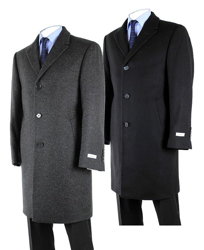 1950s Men's Jackets Hathaway Platinum Wool & Cashmere Italian Top Coat for Men $109.99 AT vintagedancer.com