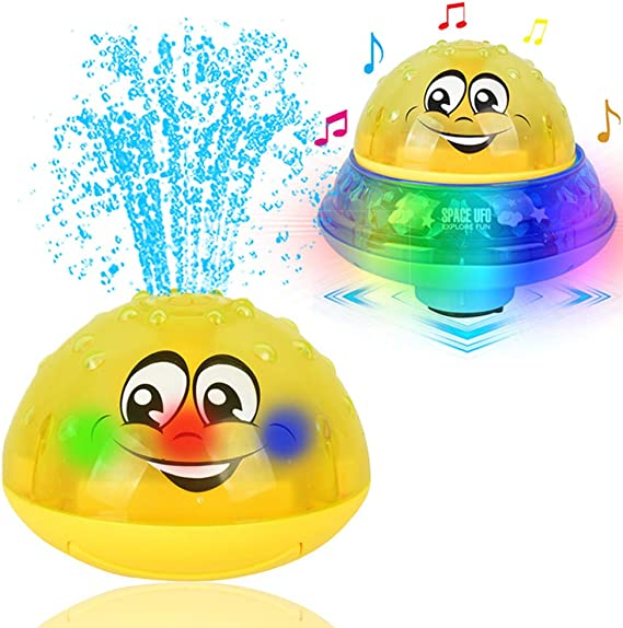 Rose Red and Yellow AOLIGE Light Up Bath Toys for Toddlers 1 2 3 Years Kids Pack of 2