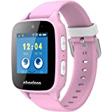 Abardeen B108 GPS GSM Tracker Smart Watch Bracelet with Camera for Kids Anti Lost SOS Waterproof Support Android IOS (Pink)