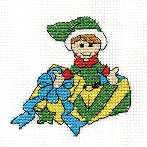 DMC Cross Stitch Kit - Elf - Mini Christmas Kit