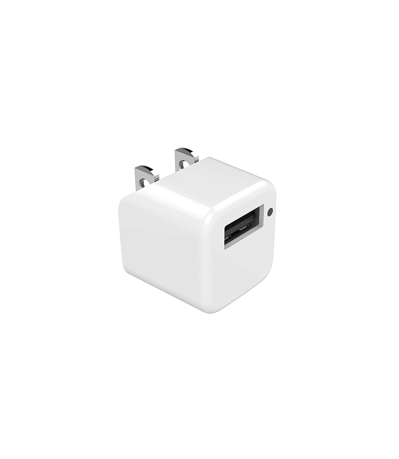 eeco Single-Port Ultra Small USB Wall Charger, 5V 1A Portable Travel Wall Charger with Foldable Plug and SmartIC Charging for iPhone, iPad Air/Pro/Mini, Samsung, Nexus, HTC, LG, and many more Devices EE110201WW