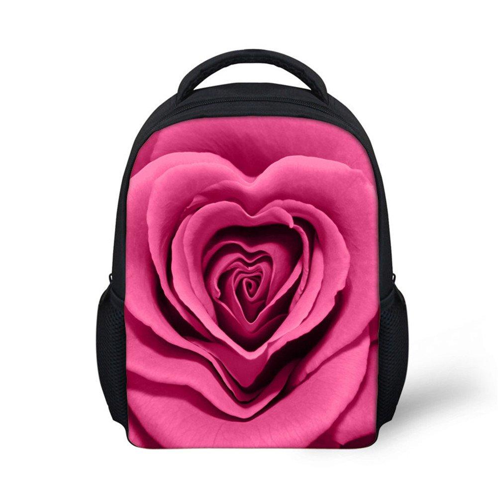 HUGS IDEA Candy Color Floral Mini Kids Backpack Kindergarten Baby School Bag Y-C0121F