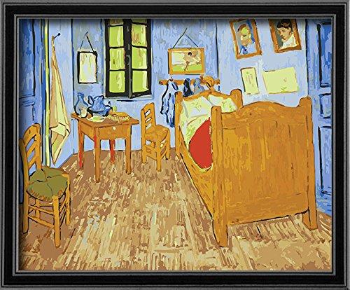 DoMyArt DIY Oil Painting, Paint by Number Kits - Bedroom in Arles by Van Gogh 16X20 Inch (Canvas Arles)