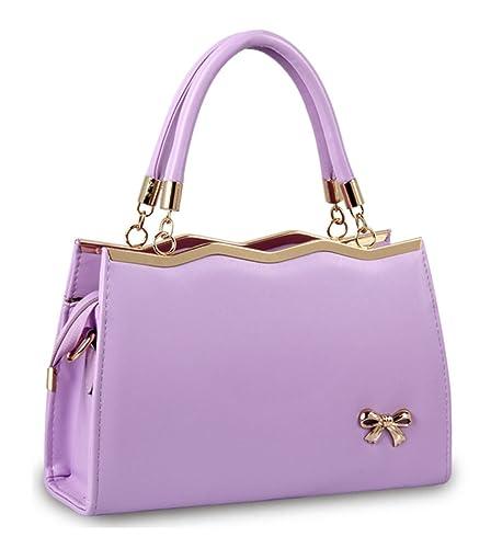 b2cd830681d1 Alidier New Brand and High Quality 2016 New Women Top Handle Satchel  Handbags Tote Purse Purple