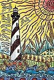Toland Home Garden Lighthouse Life 28 x 40 Inch Decorative Colorful Summer Beach Sunshine Pelican Bird House Flag For Sale