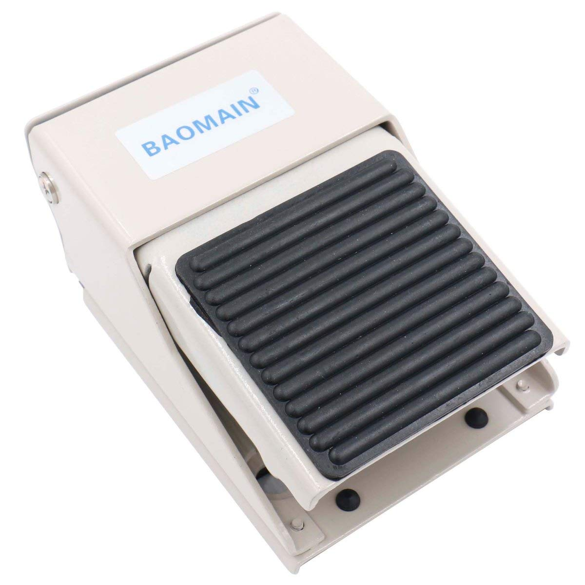 Baomain Pneumatic Foot Pedal Valve FV-320 Momentary 3 Way 2 Position 1/4''PT Threaded Rubber Nonslip Pressure Control