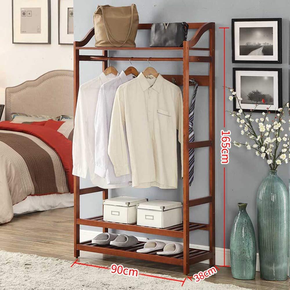 Amazon.com: MEIDUO - Perchero de pie con 2 estantes para ...