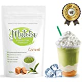 Japanese Caramel Matcha Tea Powder (100g) - Rich in Antioxidants, Supports Weight Loss and Boosts Energy - Great for Green Tea, Frappes or Lattes - Infused with Natural Flavor, No Sugar Added