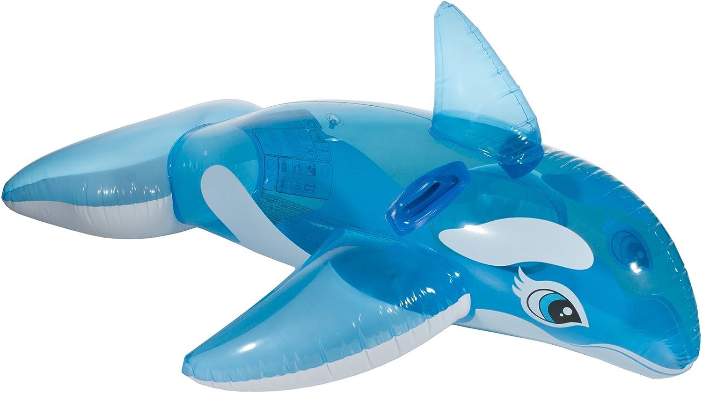 Unbekannt hinchable ballena orca Natación Animales de baño Animales Equitación Animales Natación Isla Balsa con resistente Asas en azul/blanco para piscina Mar de baño mar