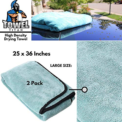 Towel Titan Microfiber Complete Bundle Kit - Microfiber Detailing Towels for Your Car, Boat, RV, Home, and More - Drying Towels, Utility Towels, Wax & Polishing Towels (Professional Bundle) by Towel Titan (Image #3)