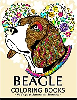 Amazon Beagle Coloring Book Cute Puppy And Dog Books For Adults 9781974684106 Tiny Cactus Publishing