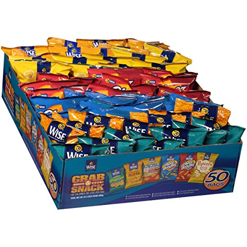 Wise Grab and Snack 50 -Variety Pack, 37.5 Oz