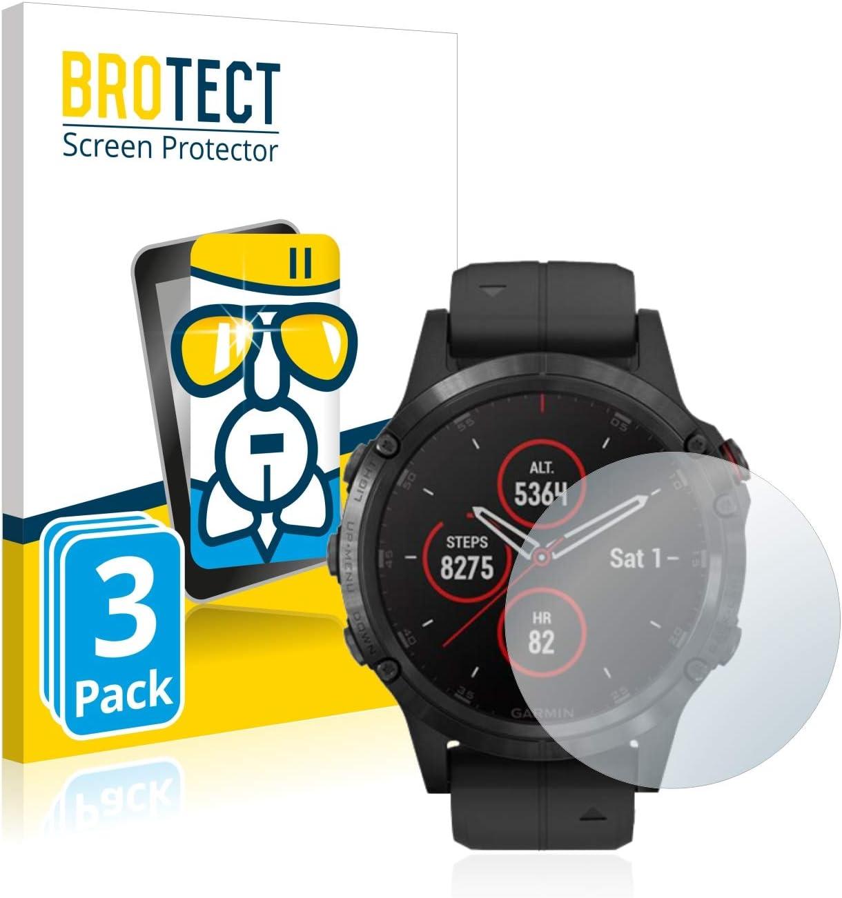 BROTECT Protector Pantalla Cristal Compatible con Garmin Fenix 5 ...