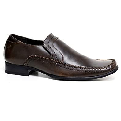 34c57cf9b Pierre Cardin Mens Leather Shoes Italian Formal Office Smart Wedding Slip  ON Shoes Size 7-12