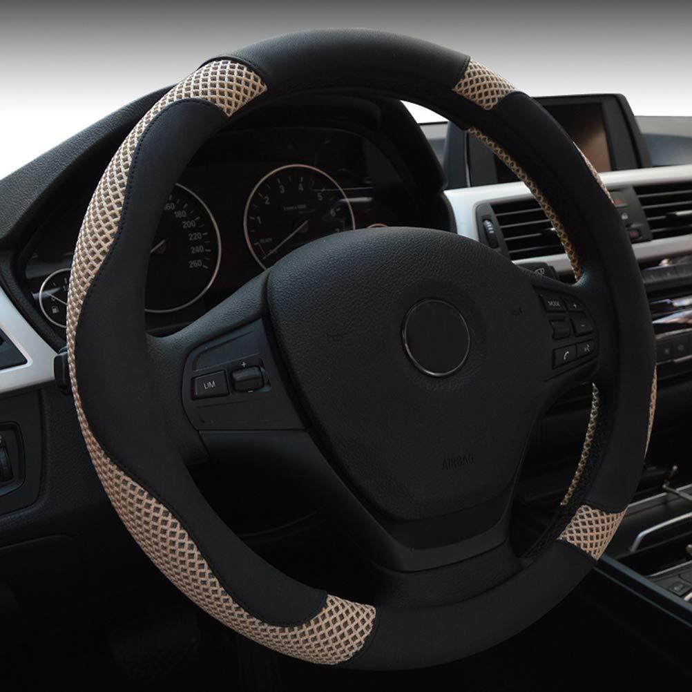 38cm Universal Auto Lenkradbezug Anti Rutsch Atmungs Eisseide Grace rot
