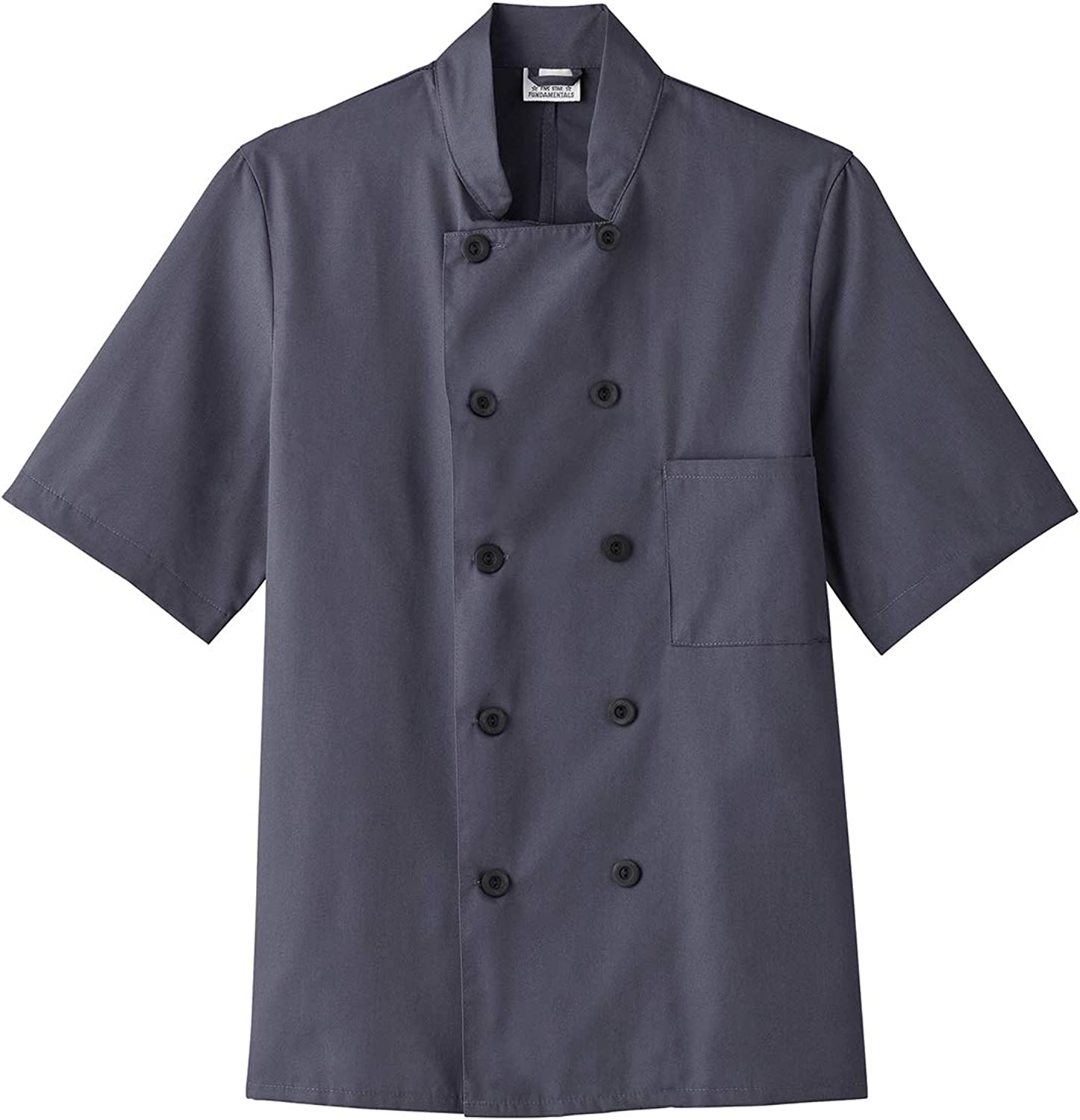 Five Star Chef Apparel 18025 Unisex Short Sleeve Chef Jacket