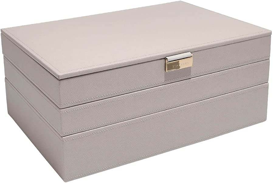 Stackers by LC Designs Mink /& Grey Supersize Set of 3 Jewellery Trays