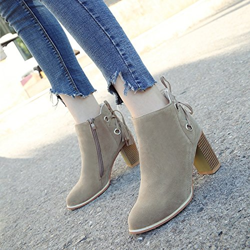 M Martin Zipper Spring Cotton Lace Pointed Winter Short New Boots Autumn High Xuenv And Boots With The During white Shoes Thick Heeled The Matte Tube KHSKX Sq6wxa7q