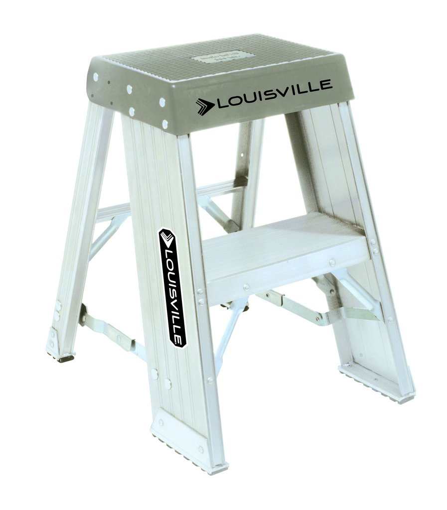 Louisville Ladder AY8002 Louisville Ay8000 Extra Heavy Duty Step Stand, 300 Lb, 6 in, 2', Black, White