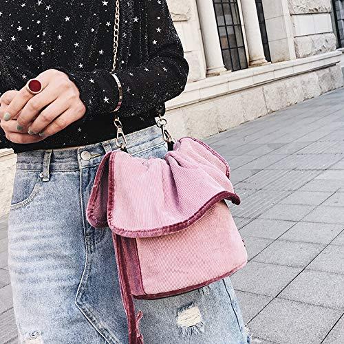 rosa catena a tracolla bag a Borsetta WSLMHH moda fire Borsa rosa super selvaggio Borsa bambina secchiello coreano Messenger waxUH