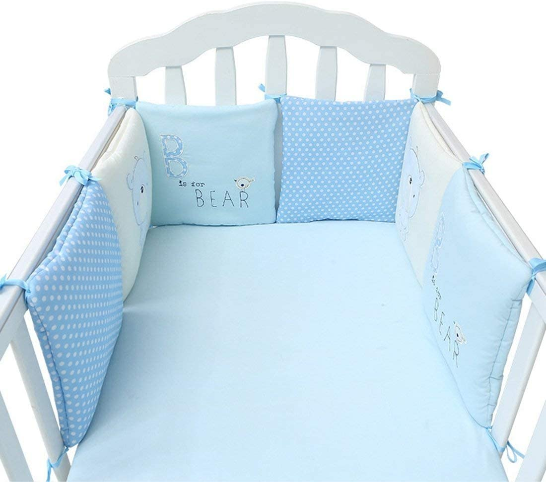 Flyinghedwig 6PCS Baby Bed Crib Cot Bumper Pads Bedding Set Cushion Pillow/