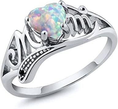 Amazon Com Rings Hot Sale Love Mum Crystal Heart Ring Jewelry