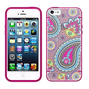 iPhone 6 Fun Paisleys on Lavender See Through Case with Glow Pink Trim
