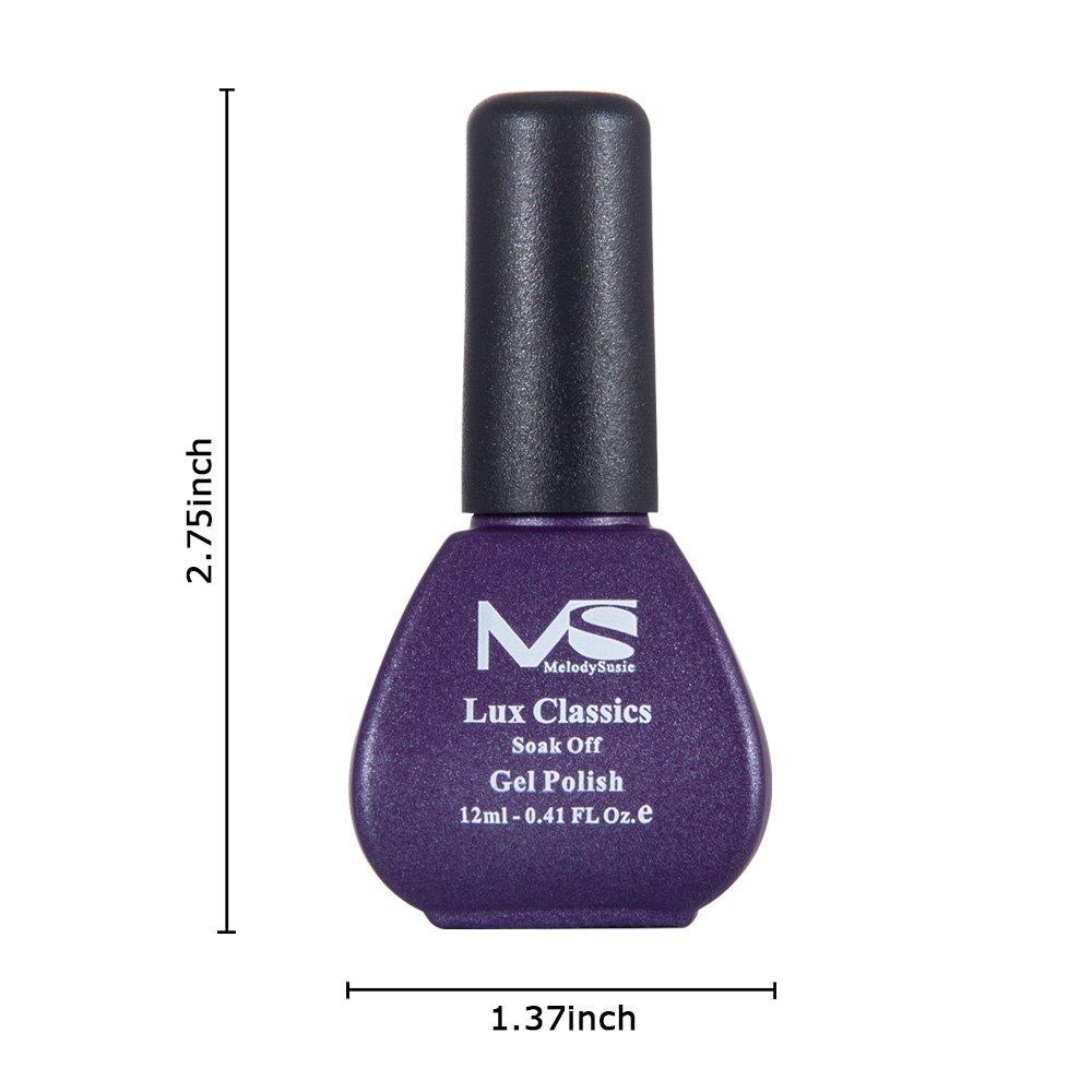 Amazon.com : MelodySusie Durable Gel Nail Polish - Lux Classics 1 ...