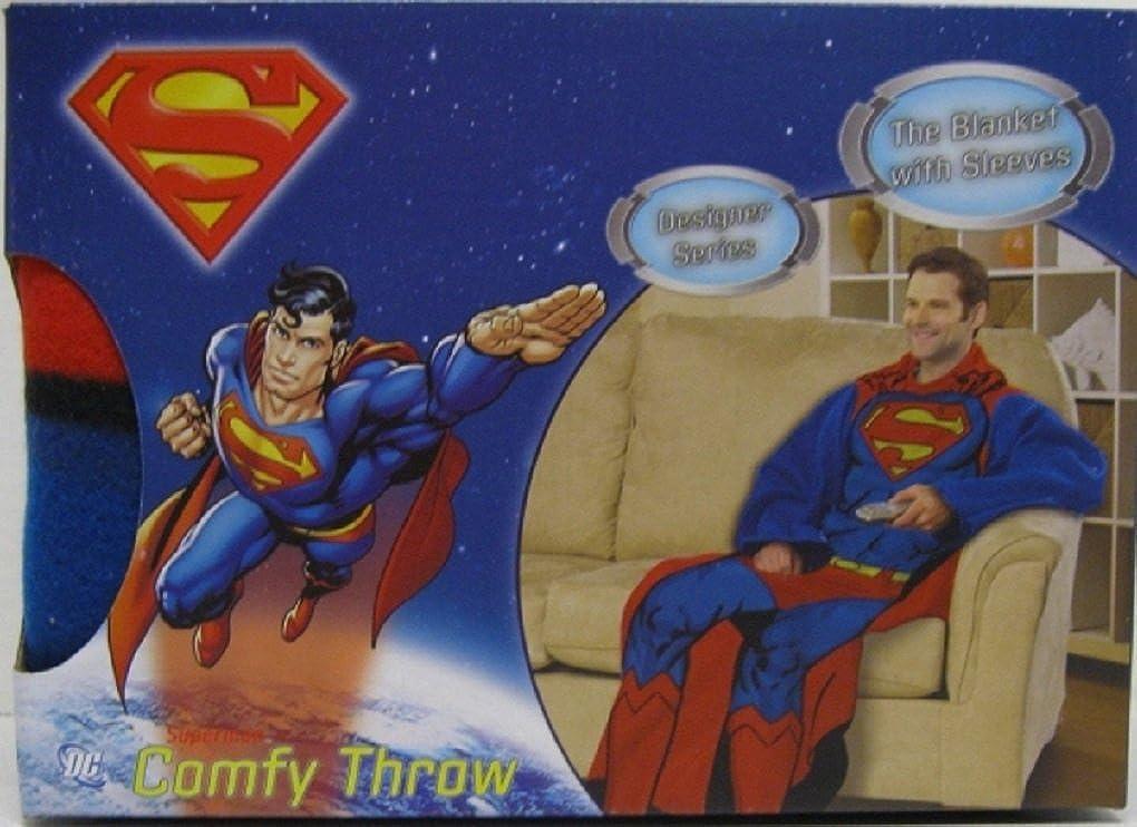 Amazon.com  Adult DC Comics Superman Snuggie Comfy Backwards Robe  Clothing a55814366