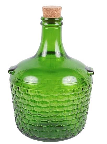 do-it-at-home Damajuana Vidrio Gallon Jarra 4 + Corcho Natural