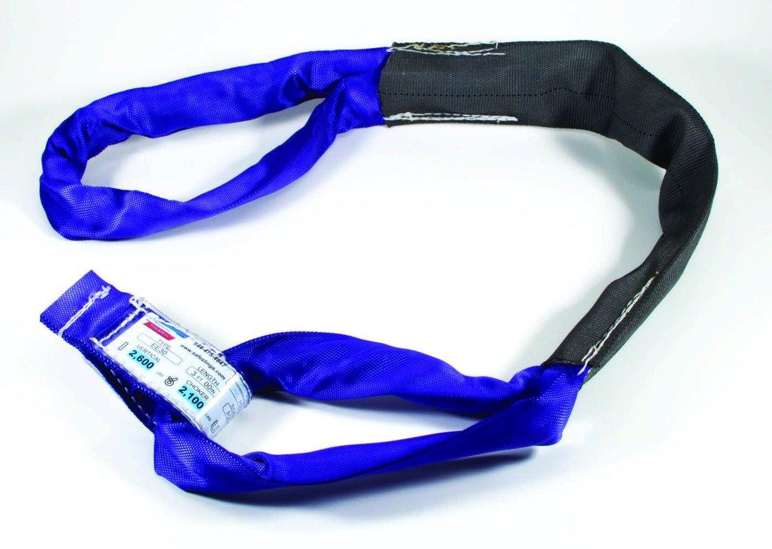 Purple // 20 Ft Vertical Long // Ee30X20 // 2,600 Lbs American Industrial // 2 1//4 Body // Eye To Eye Polyester Round Sling