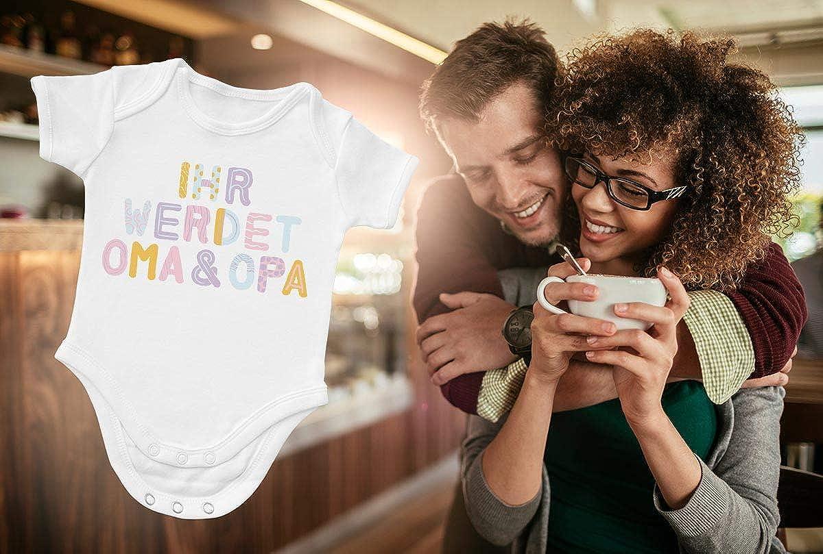 Shirtgeil Geschenk Gro/ßeltern Ihr werdet Oma /& Opa Baby Body Kurzarm-Body