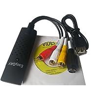 Easyday Convertisseur USB 2.0 DC60,RCA, AV, S-Video, CVBS, audio, TV, VHS, DVD, avec puce UTV 007et logiciel d'édition vidéo