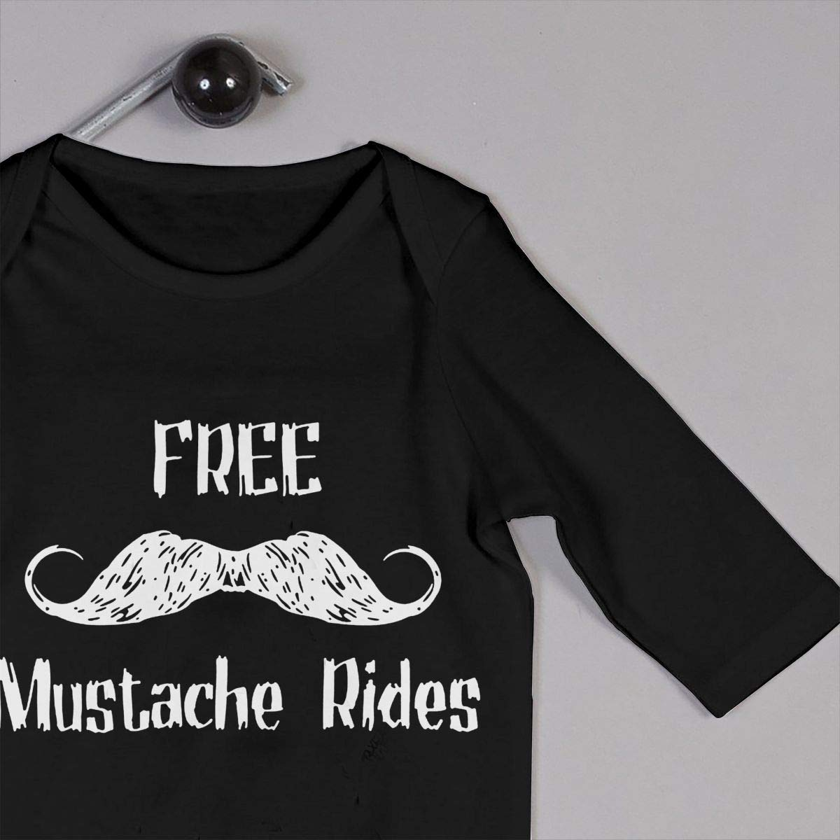 KAYERDELLE Free Mustache Rides Long-Sleeve Unisex Baby Romper for 6-24 Months Boys /& Girls