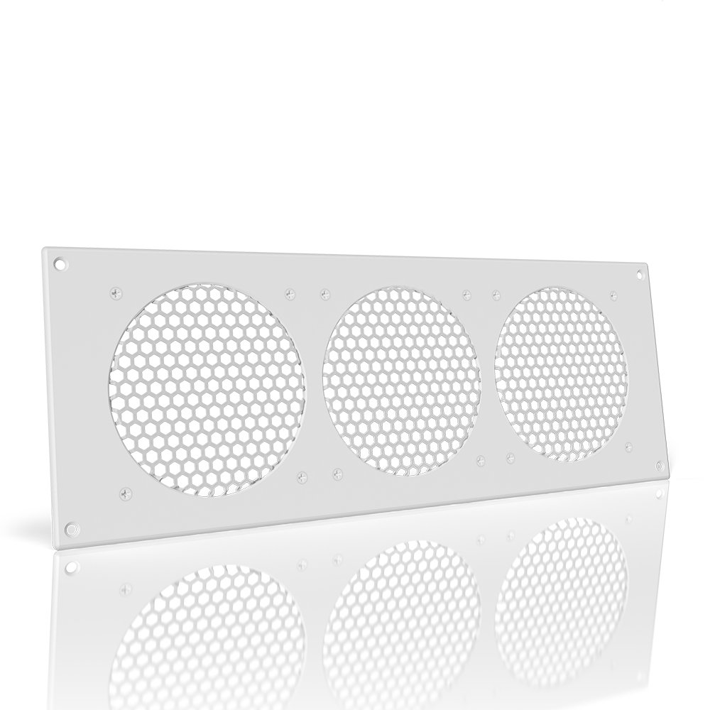 AC Infinity White Ventilation Grille 18'', for PC Computer AV Electronic Cabinets, replacement grille for AIRPLATE S9/T9