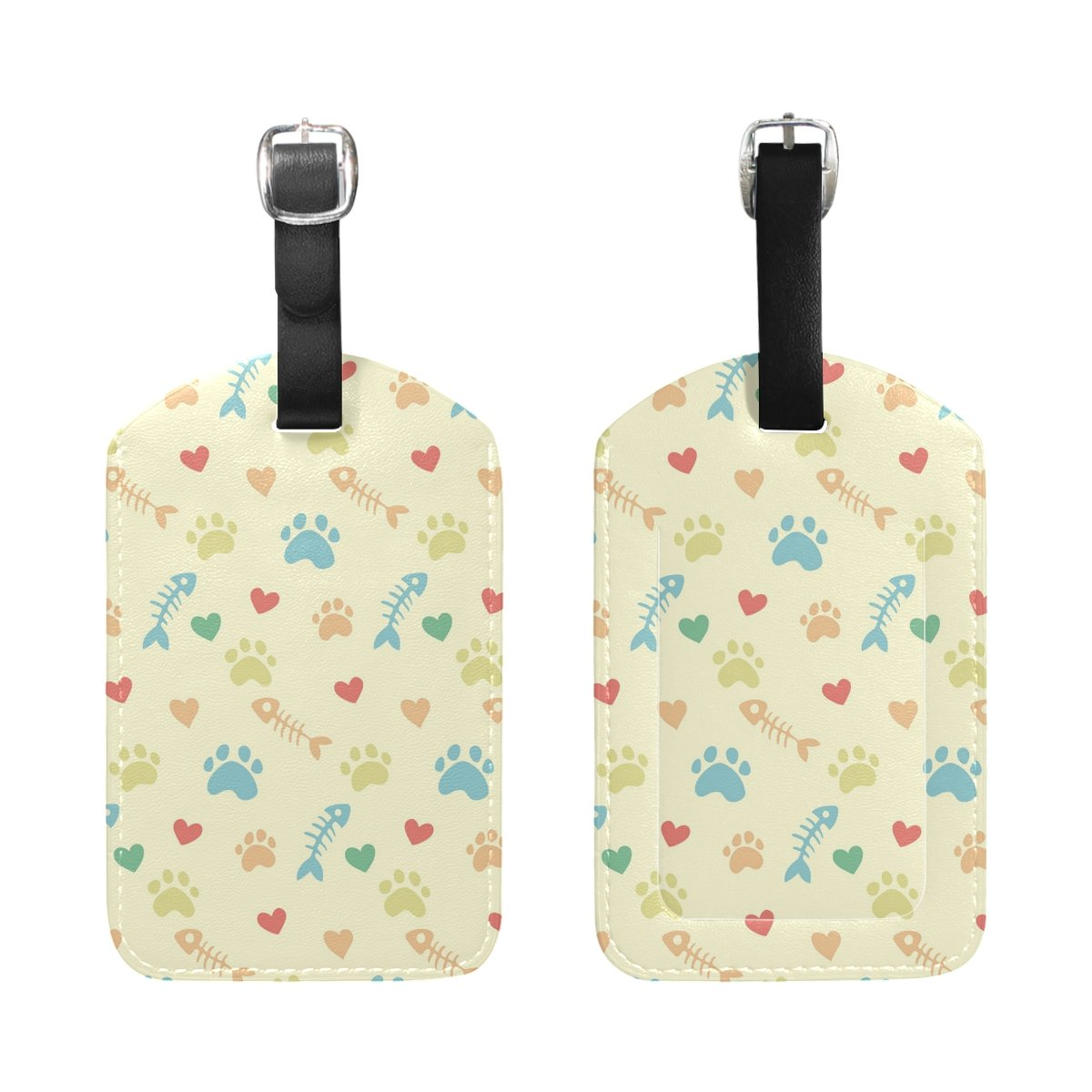 1Pcs Saobao Travel Luggage Tag Cats Paw Prints PU Leather Baggage Suitcase Travel ID Bag Tag